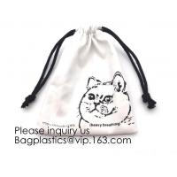 White Brushed Cotton Twill Drawstring Bag For Packaging,Cotton Flannel Dust bag,Pure White Cotton Flannel Packaging Bag Manufactures