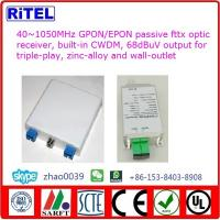 40~1050MHz GPON/EPON/GEPON fttx passive optic receiver OR100WF for triple-play, FTTH CATV O/E CONVERTER Manufactures