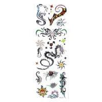 Portable Transparent plastic film realistic temporary tattoos stickers for childrens Manufactures