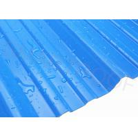 China Steady Impervious Material PVC Corrugated Sheet , Coloured Plastic Sheets For Roof on sale