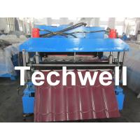 Automatic Color Steel Roof Tile Roll Forming Machine With 11 Kw Hydraulic Motor Power Manufactures