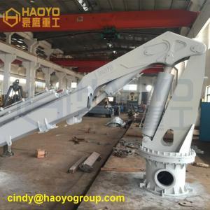 Telescopic Knuckle Boom Handling Ship Crane for sale Marine Ship Deck Crane Manufactures