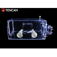 Acrylic Transparent Isolation Laboratory Glove Box Dust Proof Without Vacuuming Manufactures