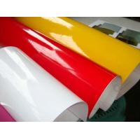 Coloured Self Adhesive Vinyl Rolls , Red Self Adhesive Colored Film Vinyl Manufactures