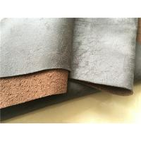 Hot Stamping Genuine Leather Fabric , 140cm Width Genuine Suede Fabric