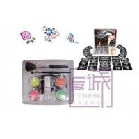 China Fluorescence Body Painting Glitter Tattoo Kit with 4 Colors Tattoo Pigment Powder on sale