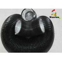 Stretchable Flame Resistant Round Flexible Duct , Aluminum Foil PVC Flexible Ducting Manufactures
