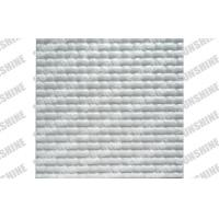 "Bathroom Plastic Textured Wall Panels With Grooves Patterns 19.7x19.7"" Manufactures"