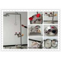 304 Stainless Steel Floor Mounted Combination Laboratory  Emergency Safety Shower EyeWash Station Manufactures