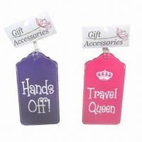 Leather luggage tag, made of PU Manufactures