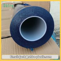 China 60mic Blue Polyethylene Plastic Film Glass Protection Tape Stable Adhesive on sale