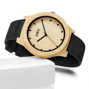 China Portable Handcrafted Original Wood Watch , Auto Date Miyota Quartz Watch on sale