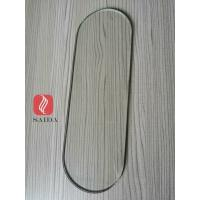 custom clear tempered glass 6 mm thickness oval shape with pencil grinded edges for sale