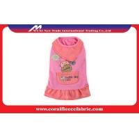 Pink or Blue Baby Dog Scarf Skirt Cute Pet Clothes , Small Dog Pet Sweaters / T-shirt Manufactures