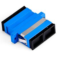Blue Color Fiber Optic Cable Adapter Single Mode Duplex For FTTX Network