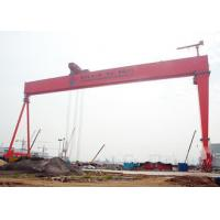 Shipbuilding Travelling Gantry Crane Electric Q235 Q345 Steels Heavy Lifting Load