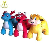 Hansel plush riding animals for sale and adult ride on toys manufacture with plush animals ride for mall for sale
