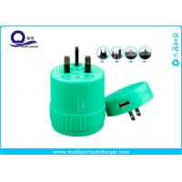 5V 1A Output Rotating USB Universal Travel Adapter , USB Travel Voltage Converter Manufactures