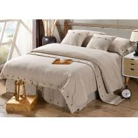 Pure Linen Wooden Buttons Modern Bedding Sets 4Pcs Real Simple Logo Customized Manufactures