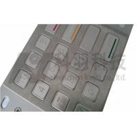Outdoor ATM Number Pad , Stainless Steel Keypad With Etched And Colored Graphics Manufactures