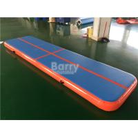 Drop Stitch Tumbling Air Track Gymnastics Mat , 4m Air Track Gym Mat Manufactures