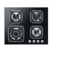China Four Burners Gas Cooker Hob High Safety For Home Kitchen SS Surface Material on sale