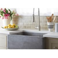 China Italian Grey Marble Bathroom Countertops For Home , Additional Edge on sale