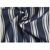 Woven 100% Cotton Denim Fabric Yarn Dyed 150GSM Weight With 89*56 Density Manufactures