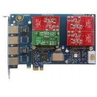 Buy cheap AEX410 4 Port Asterisk Card with 3FXO&1FXS PCI Express Card from wholesalers