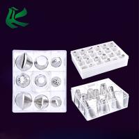 China Stainless Steel Cake Decorating Tips Set, Cupcake Icing Flower Decorating Tool Cake Tips Set Bundle with Coupler Flower on sale