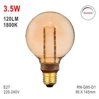 Quality G95 Bulb, Deco Bulb, E27 LED Bulb, Fashionable Glass Bulb, Energy-saving Bulb for sale
