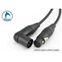 China Digital Audio Cable Canare L-2T2S With NEUTRIK Angled XLR F To Angled XLR M on sale