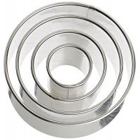 Plain Edge Round Cutters in Graduated Sizes, Stainless Steel, 4 Pc Set Manufactures