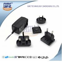 GME Switching Power Adapter , Interchangeable Plug Power Adapter 24VDC Manufactures