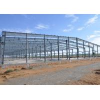 Economic And Typical Workshop Steel Structure 3000㎡ Red Color GB Standard Manufactures