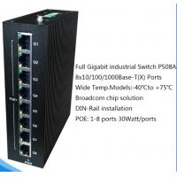 Buy cheap 8×10/100/1000BaseT(X) PoE ports Full Gigabit PoE Industrial Ethernet Switches P508A from wholesalers