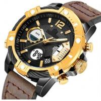 Special Design Leather Band Watches Date 2 Time Zone Alarm Mix Color Japan Movt High End Wrist Mens Watch Manufactures