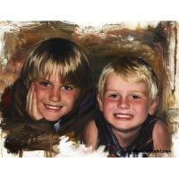100% Hand-painted High Quality Portrait - Boys Oil Painting on Canvas Manufactures