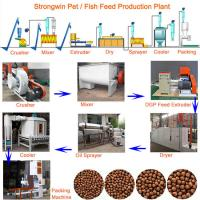 Pet 200KG/H Fish Feed Production Process With Mesh Belt Dryer Adjustable Manufactures