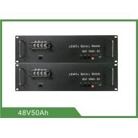 Energy Saving Telecom Battery 48V 50Ah Long Life 3U Rack With LED Display Function Manufactures