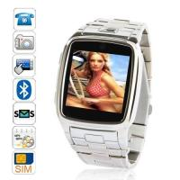 TW810 Fashion 2012 New Stainless Steel Wrist Watch phone with 370 mAh battery Manufactures