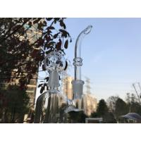 Double Perc DAB Oil Rigs , 7 Inches Oil Rig Sheldon Smoking Water Pipe In 14.4mm Manufactures
