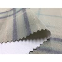Coat 0.7mm Printed Polyurethane Leather Fabric Surface Grids Normal Tearing Strength Manufactures