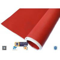 3784 C Glass Red Silicone Coated Fiberglass Cloth Thermal Insulation Cover Manufactures