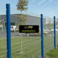 China Garden fence, PVC Coating Welded Wire Mesh Fence, 5x10cm Mesh size, China Anping suppliers on sale