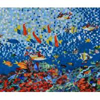Sea Creatures Exquisite Mosaic Tiles Designs Patterns , Large Mosaic Garden Wall Art Manufactures