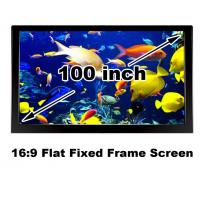China Matt White Projection Screen 100 Inch Fixed Frame 16:9 HD Projector Fabirc High Quality on sale