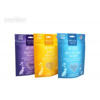 Laminated Stand Up Pet Food Pouches Cat / Dog Food Packaging Digital Printing Manufactures