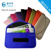 Custom RFID Travel Bags , Credit Card Protector Wallet 19.5*9 Cm Manufactures