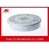 Empty Round Cookie Gift Tins Container Full Color Printed For Biscuit Packaging Manufactures